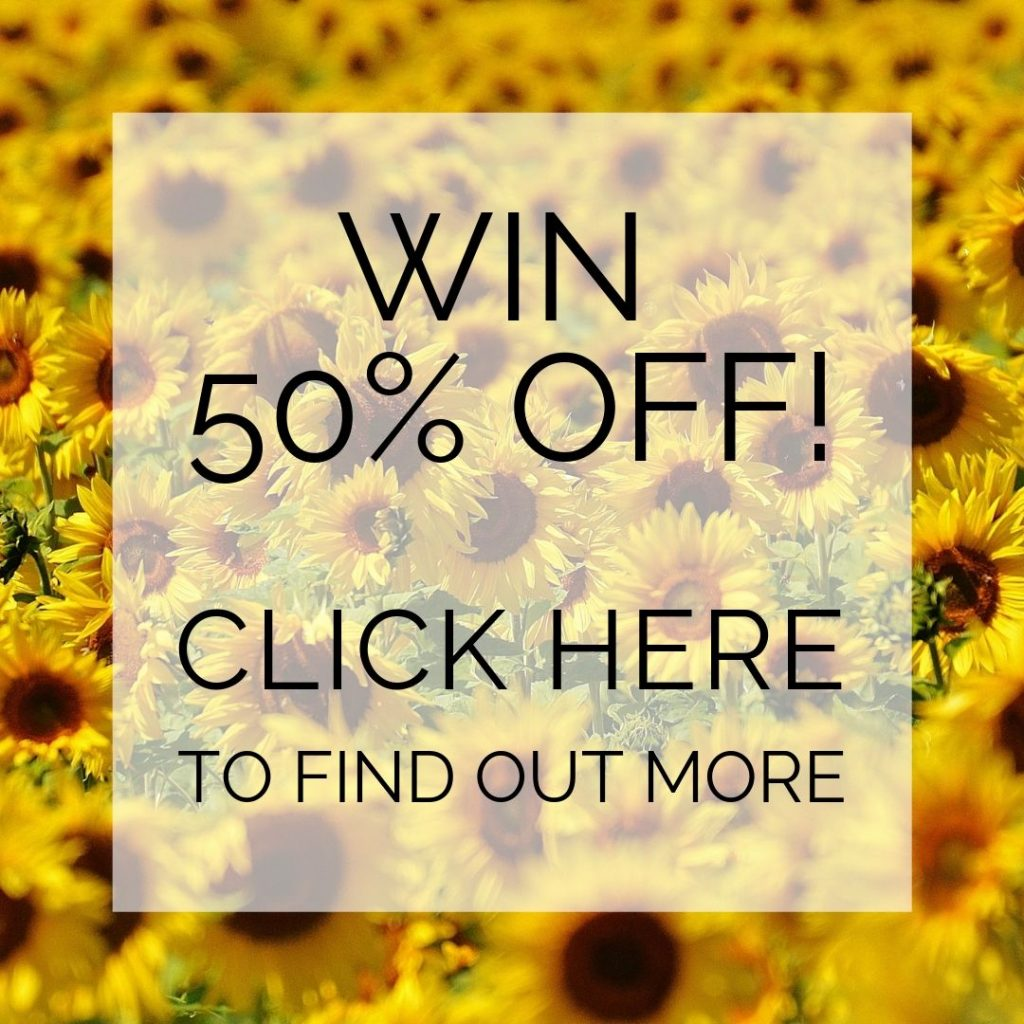 Win 50% off - click here to find out more