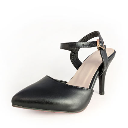 Small size petite ankle strap black shoes heels pumps for women in Australia