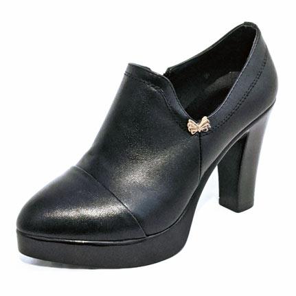 Small size petite ankle bootie black pump shoes heels pumps for women in Australia
