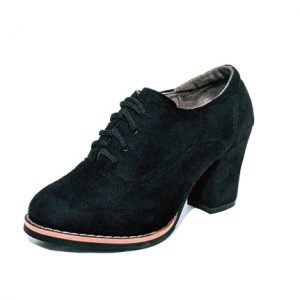 Small size petite ankle bootie lace-up black pump shoes heels pumps for women in Australia