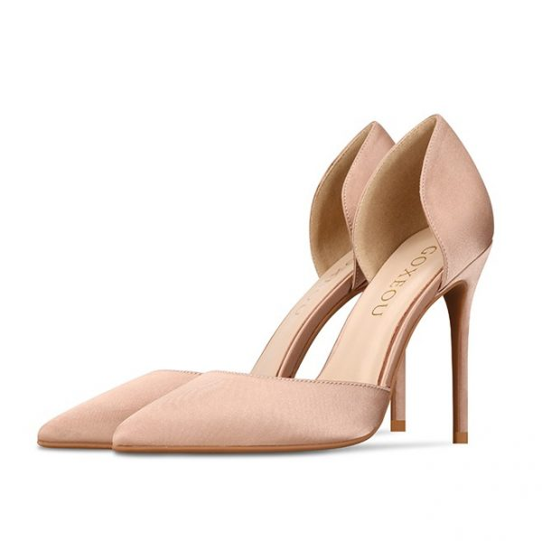 Small size petite sexy stilettos black pump shoes heels for women in Australia. Nude, black, and red.